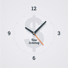 Time is money. Illustration in EPS10.