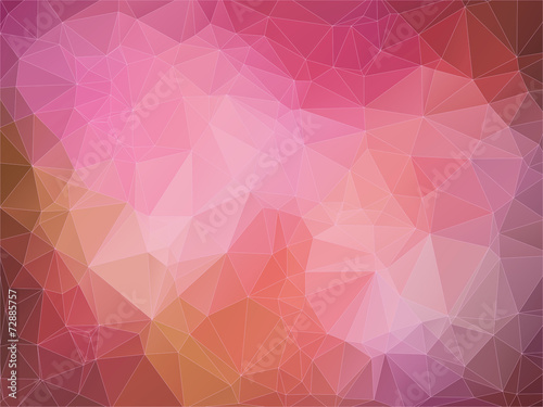 Fotobehang Geometrische Achtergrond Abstract 2D geometric red background