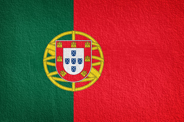 Portugal Flag painted on grunge wall