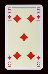 Spielkarten der Ladys - Karo Fünf