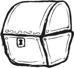 doodle wooden chest