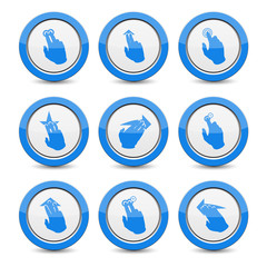 Nine touch device icon. Vector.