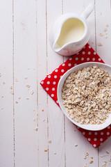 Oat flakes for breakfast