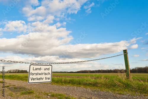 canvas print picture Landwirtschaftlicher und forstwirtschaftlicher Verkehr frei