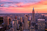 New York City Midtown with Empire State Building at Sunset