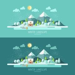 Nature - winter landscape.