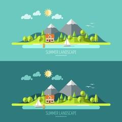Nature - summer landscape.