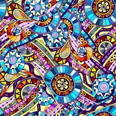 Original mosaic tribal doddle ethnic pattern.