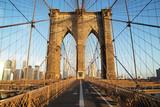 Fototapety Brooklyn Bridge at sunrise, New York City