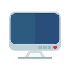 Monitor icon, flat vector illustration.