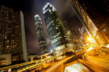 Hong Kong Business Center at Night