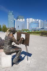 Sculpture The artist in Astana