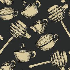 Abstract seamless tea pattern