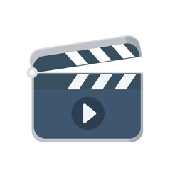 Clapboard flat icon, vector logo