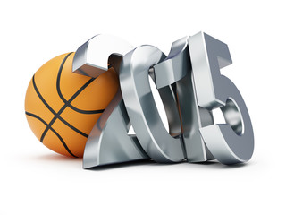 basketball ball 2015 on a white background