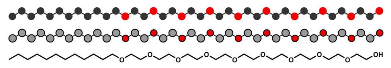 Polidocanol sclerosant drug molecule.
