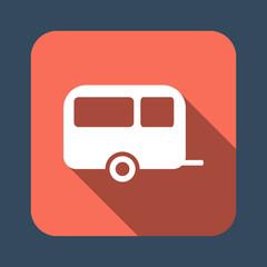camping trailer vector icon