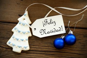 Christmas Background with Spanish Christmas Greetings