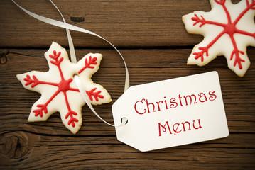 Christmas Menu Label with Cookies