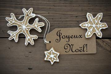 Ginger Bread Stars with Joyeux Noël Label