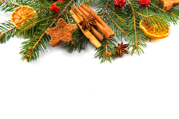 christmas decoration, orange ,star anise and cinnamon