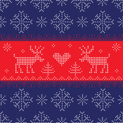 Scandinavian Style Seamless Pattern- Winter, Christmas, New Year