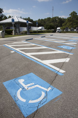 Disabled permit parking spaces