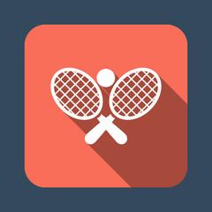 tennis racket ball vector icon