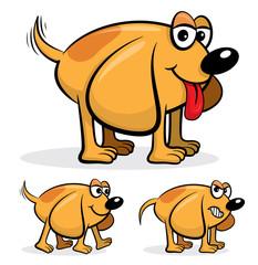 Cartoon dog vector illustration
