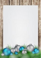 Christmas background with frame for image and text vector