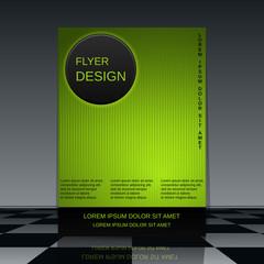 Technology flyer vector template