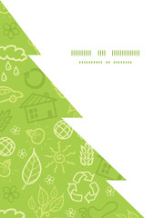 Vector environmental Christmas tree silhouette pattern frame