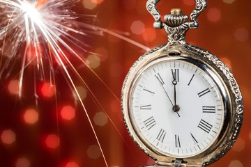 New year clock  abstract background