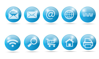 Icons - Mail, Web, Store, etc.
