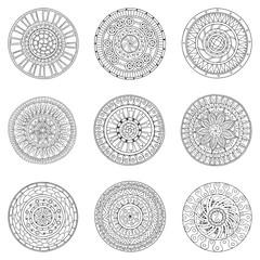 Set of circles, logo design doodle elements.