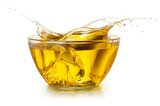 Fototapety Cooking oil. Splash isolated on white. With clipping path.