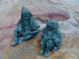 Fairytale dwarf statues in the city Geelong  in Australia