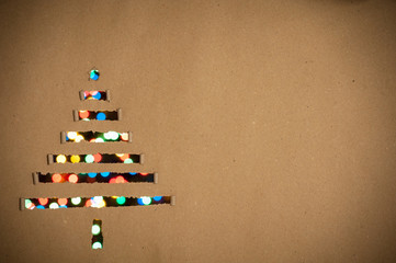 Christmas tree as background