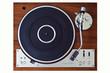 Leinwanddruck Bild - Stereo Turntable Vinyl Record Player Analog Retro Vintage