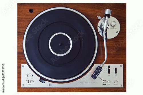 Leinwanddruck Bild Stereo Turntable Vinyl Record Player Analog Retro Vintage