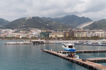 Salerno - Panorama Dal molo turistico Masuccio Salernitano