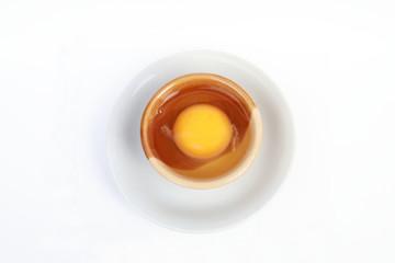 yolk in the bowl