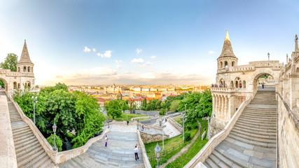 Budapest, Fischerbastei und Blick auf Budapest