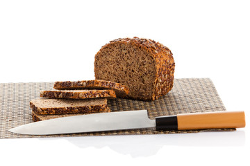 slices of bread.  sliced bread isolated on white
