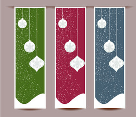 Merry Christmas banners set design