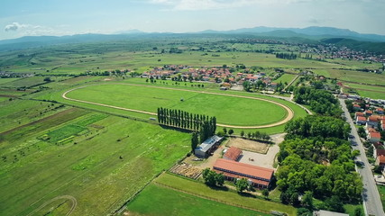 Hippodrome Sinj with surronding, aerial shot