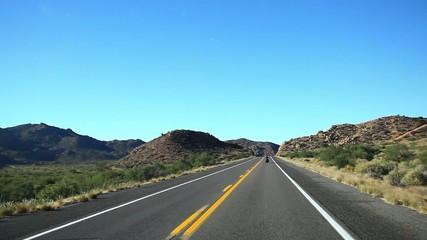 オレゴンの道路の主観移動_1