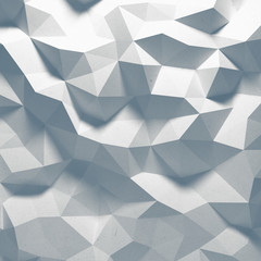 Abstract top lighted geometric paper background