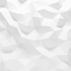 Abstract white triangle 3D geometric paper background