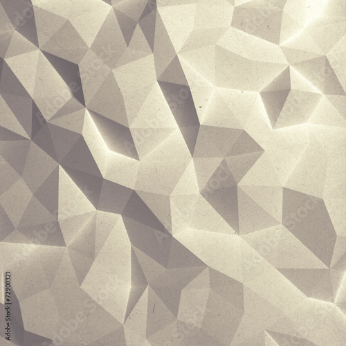 Fotobehang 3d Achtergrond Abstract faceted geometric paper background